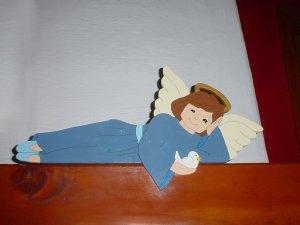 Wooden Angel Railpet Door Topper