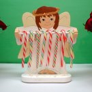 Wooden Angel Candycane Holder