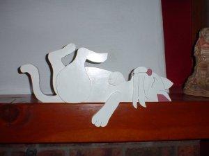 Wooden Cat Plaque DoorTopper