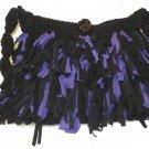 Boho Shag Bag purple and Black size medium