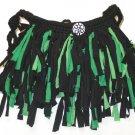 Boho Shag Bag Green and Black size medium