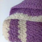 "Square 12"" Crochet knitted cream lilac piece new"