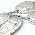 Link Belt metal stamped silver floral collectible vintage