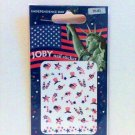 JOBY Nail Stickers American Flag Independence Day New Year red white blue glitter new