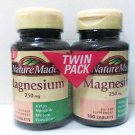 NatureMade Magnesium Tabs 250mg count 200 twin pack exp 5/14 Vitamins Minerals new