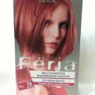 L'Oreal F'eria Hair Colour #74 Deep Copper Multi-faceted Shimmering 3X highlights  Color new