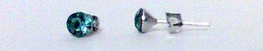 Blue Cyrstal earring studs 5 mm new
