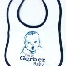 Geber baby Bib white blue new