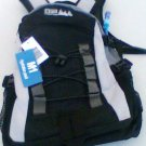 WFS Hydration pack backpack gray black water world famous sports new