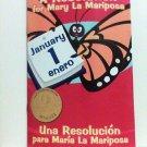 A Resolution for Mary La Mariposa book children english spanish bilingual new