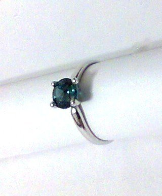 RING London Blue Topaz 1 ct size 6.5 solitaire sterling silver new