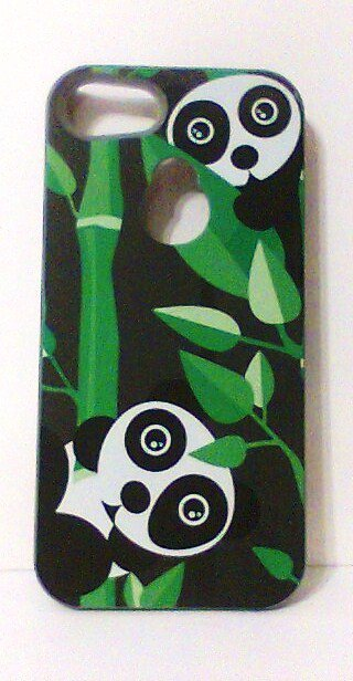 Maxboost Ambrosia iPhone 5 Case 5s Panda bamboo gray green black new