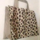Leopard Print Tote Bag size Large 2 ply Cotton soft shopping foldable animal  new