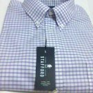 Stafford oxford dress shirt 19 Xtall lavender short sleeve men new