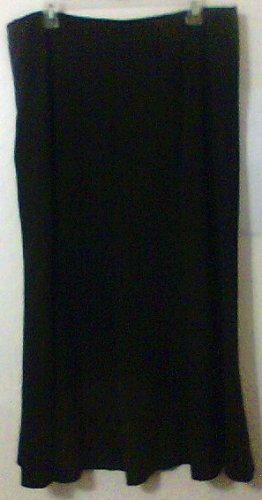 East 5th Ave Skirt Long size 16 / XL Black flare women