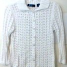 Classic Blues Sweater size XL / 36 White women vintage