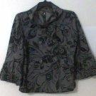 Renee C Jacket size Medium gray women blazer new