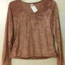 Velour Top size Medium Gold women new
