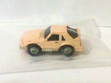 Micro Machines 1988 Funrise Yellow Micro Action Magnifiers Car Mustang