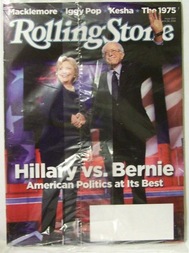 Rolling Stone Hillary vs Bernie magazine March 24 2016 #1257 new