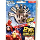 HUBSNAPS Marvel Series 1 2 count new