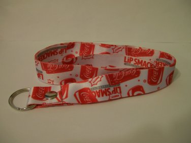 Coca Cola Lanyard Lip Smackers red white new