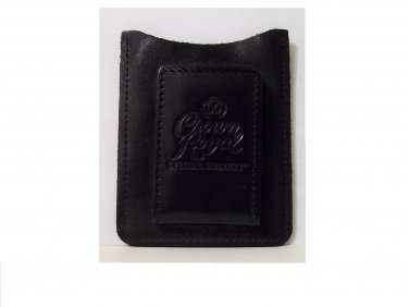 Crown Royal Money Clip leather black new