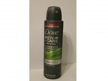 Dove Men+Care Antiperspirant Dry Spray Elements minerals + sage 48hr 3.8 oz new