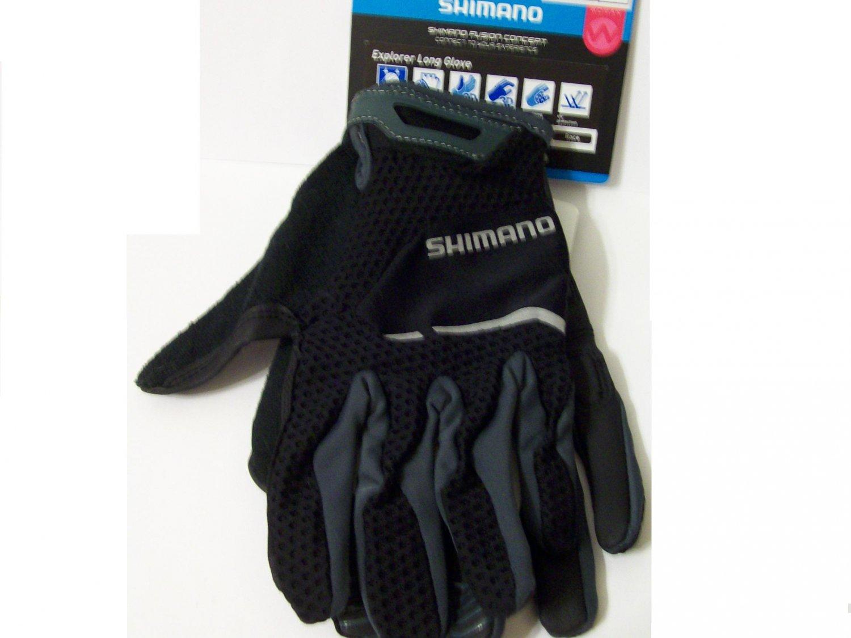 Shimano Gloves size M cycling black women bike sport jrs girls new