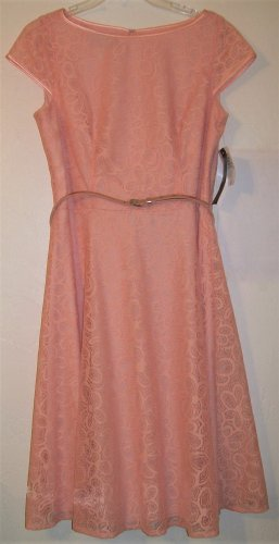 Black Label by Evan-Picone Dress size 10 36 / 38 color Peach women new
