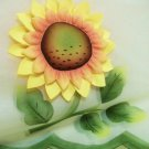"3-D Sunflower Valance 17"" sheer applique"