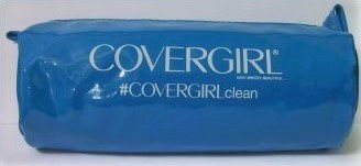 CoverGirl cosmetic tube clutch bag purse case blue new