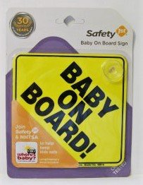 Safety 1st Baby on Board Sign new