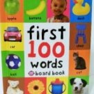 First 100 Words board book children baby Priddy new