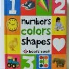 Number Colors Shapes board book children baby Priddy new