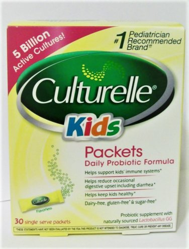 Culturelle Probiotics for Kids packets 30 count new