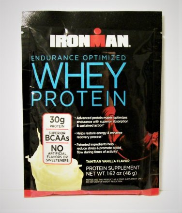 Iron Man Whey Protein Packet vanilla single serving new