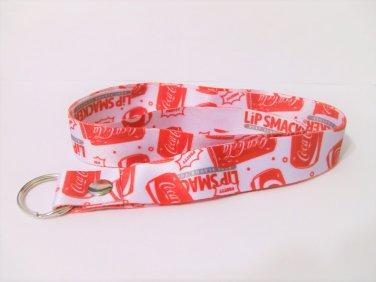 Coca Cola Lanyard Lip Smackers red white new