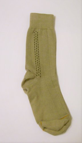 GT Goldtoe Socks size 10-13 / 6.5 tan side pattern men