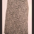 Style & Co Womens Sz 8P Skirt Brown Ruffle Tiered Hem