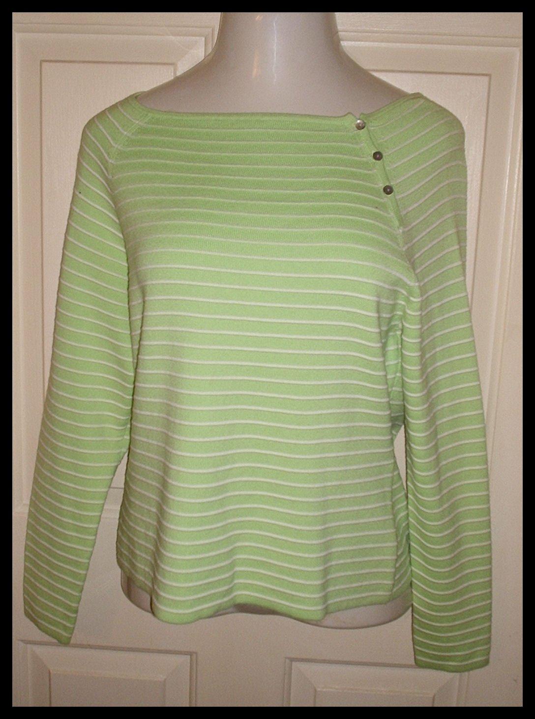 Rosanna Green White Shirt Ladies Long Sleeve Tunic XL