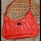Orange Leather Like Handbag Purse Lovely by Attention