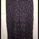 Paul Harris Black Ankle Length Skirt Multicolored Polka Dots Medium