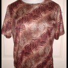 Blair Ladies Shirt Animal Leopard Print Size Med New