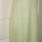 Ronni Nicole Light Green Purple Polka Dot Summer Dress 2P