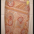 Womans Career Summer Asymmetrical Orange Rust Skirt Giorgio Fiorlini Medium
