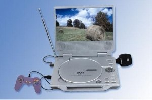 Multimedia Portable DVD Player, Game, TV, 8-inch TFT (16:9)