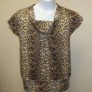 Standard Leopard Print Top Size XXXL