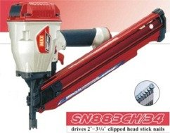 Max SN883/CH34 Clipped Head Paper Tape Nailer (3-1/4)