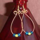 """D String Grass and Sky Earrings"" 14"